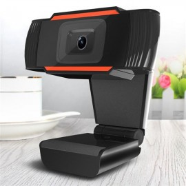 A870 USB 2.0 HD 12.0MP Webcam with Built-in Microphone for PC & Desktop Black & Red