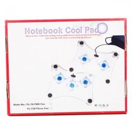 3-Fans Blue LED USB Notebook Laptop Cooling Cooler Pad