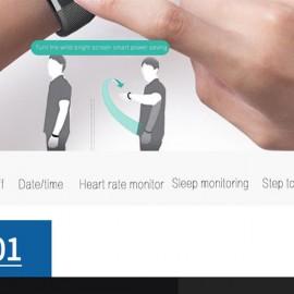 x4plus Color Screen Heart Rate Blood Pressure Pedometer Waterproof Sleep Monitoring Smart Bracelet Black